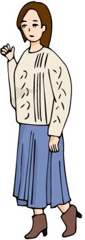 春のデート服女子高校生01