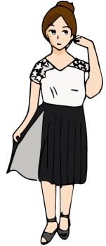 春のデート服女子高校生02