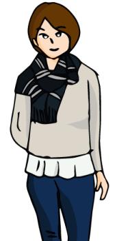 クリスマス服装女子中学生01